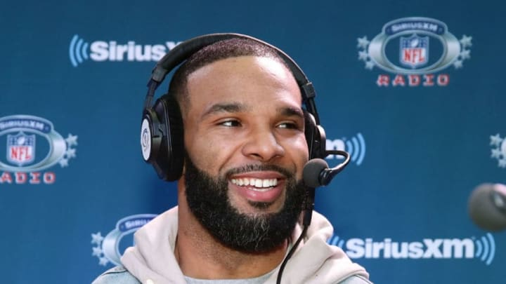 MINNEAPOLIS, MN - FEBRUARY 02: Matt Forte of the New York Jets attends SiriusXM at Super Bowl LII Radio Row at the Mall of America on February 2, 2018 in Bloomington, Minnesota. (Photo by Cindy Ord/Getty Images for SiriusXM)