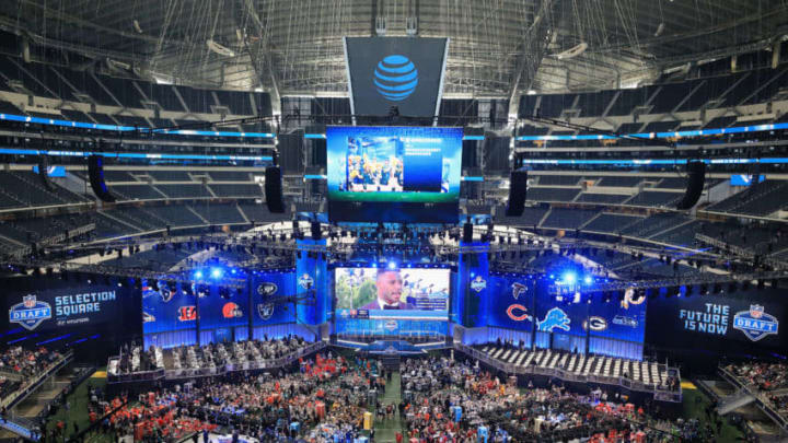 ARLINGTON, TX - APRIL 26: A general view of AT&T Stadium prior to the first round of the 2018 NFL Draft on April 26, 2018 in Arlington, Texas. (Photo by Tom Pennington/Getty Images)