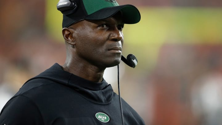 CLEVELAND, OH – SEPTEMBER 20: Head coach Todd Bowles of the New York Jets on during the first quarter against the Cleveland Browns at FirstEnergy Stadium on September 20, 2018 in Cleveland, Ohio. (Photo by Joe Robbins/Getty Images)