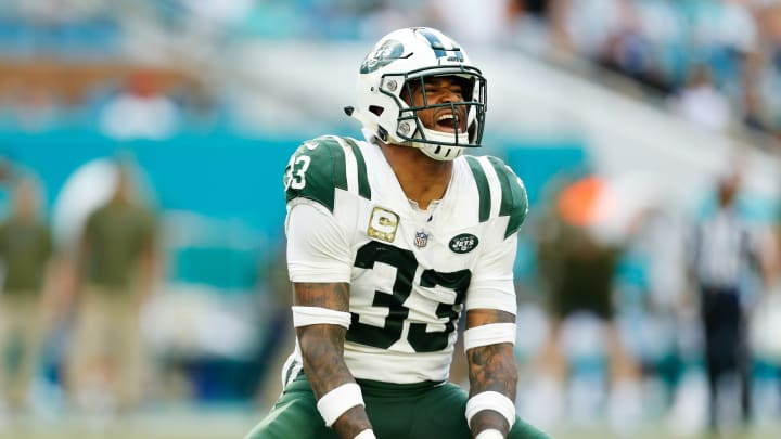 MIAMI, FL – NOVEMBER 04: Jamal Adams #33 of the New York Jets reacts in the fourth quarter of their game against the Miami Dolphins at Hard Rock Stadium on November 4, 2018 in Miami, Florida. (Photo by Michael Reaves/Getty Images)