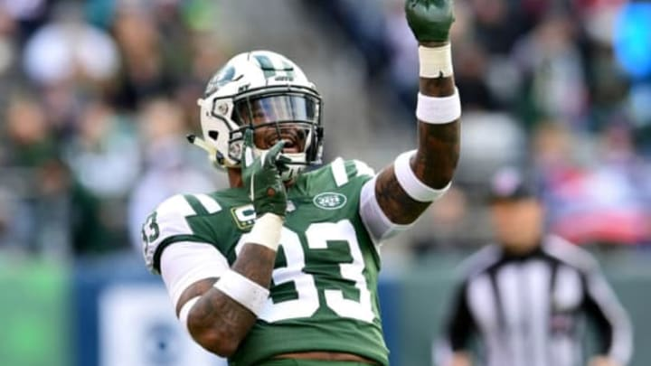 EAST RUTHERFORD, NEW JERSEY – NOVEMBER 25: Jamal Adams #33 of the New York Jets reacts to a penalty call against the New England Patriots during the first half at MetLife Stadium on November 25, 2018 in East Rutherford, New Jersey. (Photo by Sarah Stier/Getty Images)
