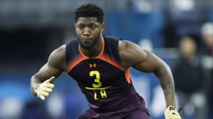INDIANAPOLIS, IN – MARCH 03: Linebacker Josh Allen of Kentucky works out during day four of the NFL Combine at Lucas Oil Stadium on March 3, 2019 in Indianapolis, Indiana. New York Jets (Photo by Joe Robbins/Getty Images)