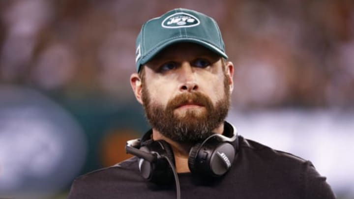 EAST RUTHERFORD, NJ – AUGUST 24: Head coach Adam Gase of the New York Jets stands on the sidelines during their preseason game against the New Orleans Saints at MetLife Stadium on August 24, 2019 in East Rutherford, New Jersey. New York Jets (Photo by Jeff Zelevansky/Getty Images)