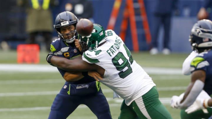 NY Jets, Folorunso Fatukasi Mandatory Credit: Joe Nicholson-USA TODAY Sports