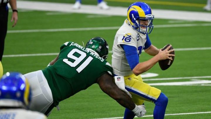 NY Jets, John Franklin-Myers Mandatory Credit: Robert Hanashiro-USA TODAY Sports