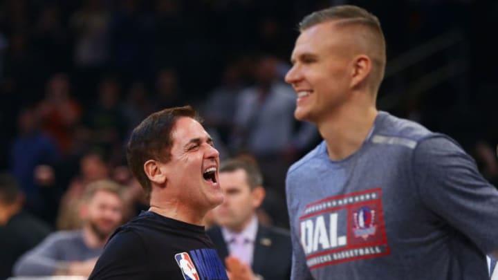 Dallas Mavericks Mark Cuban Kristaps Porzingis (Photo by Mike Stobe/Getty Images)