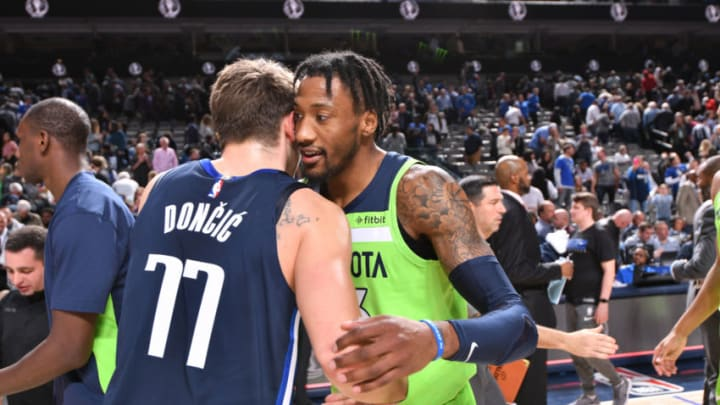 Dallas Mavericks Luka Doncic Robert Covington Copyright 2019 NBAE (Photo by Glenn James/NBAE via Getty Images)