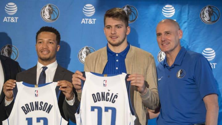 Dallas Mavericks Jalen Brunson Luka Doncic Mandatory Credit: Jerome Miron-USA TODAY Sports