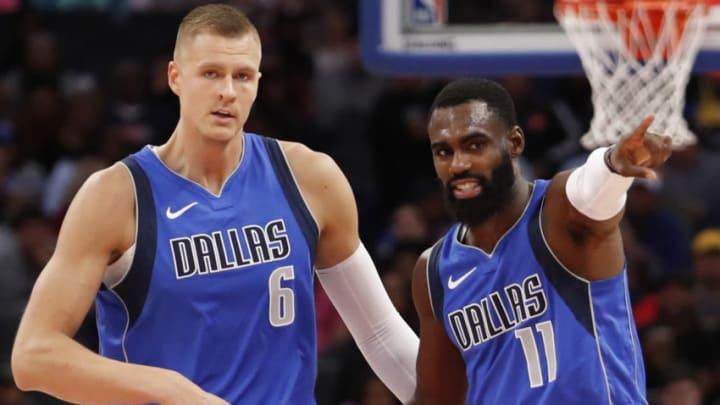 Dallas Mavericks Kristaps Porzingis Tim Hardaway Jr. Mandatory Credit: Raj Mehta-USA TODAY Sports