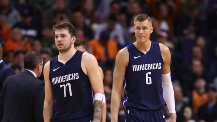 Dallas Mavericks Luka Doncic Kristaps Porzingis Mandatory Credit: Mark J. Rebilas-USA TODAY Sports