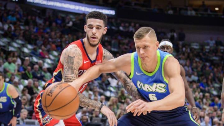 Dallas Mavericks Lonzo Ball Kristaps Porzingis Mandatory Credit: Jerome Miron-USA TODAY Sports