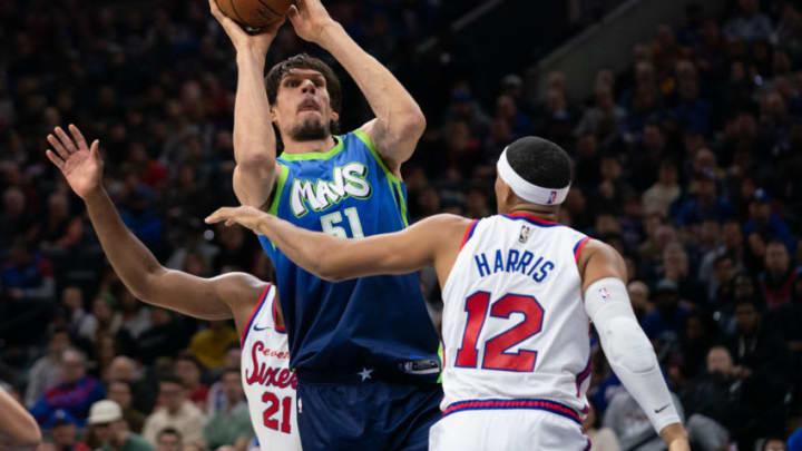 Dallas Mavericks Boban Marjanovic Tobias Harris Mandatory Credit: Bill Streicher-USA TODAY Sports