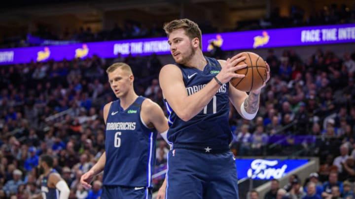 Dallas Mavericks Luka Doncic Kristaps Porzingis Mandatory Credit: Jerome Miron-USA TODAY Sports