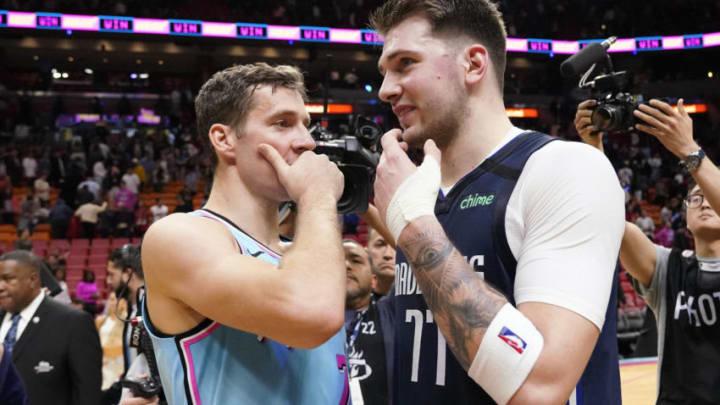Dallas Mavericks Goran Dragic Luka Doncic Mandatory Credit: Steve Mitchell-USA TODAY Sports