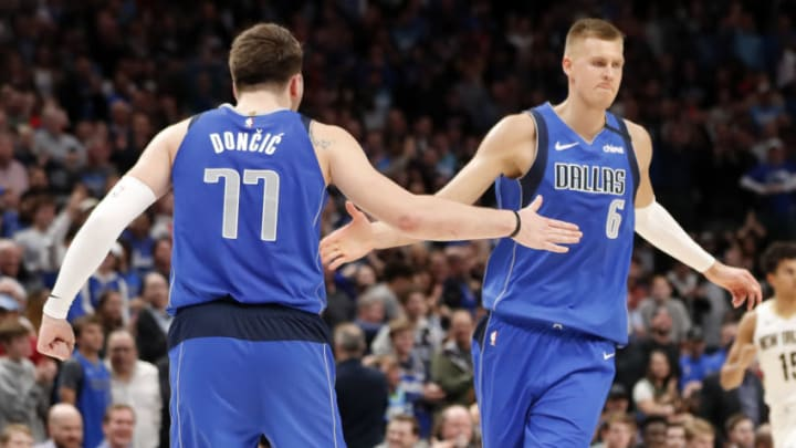 Dallas Mavericks Luka Doncic Kristaps Porzingis Mandatory Credit: Kevin Jairaj-USA TODAY Sports