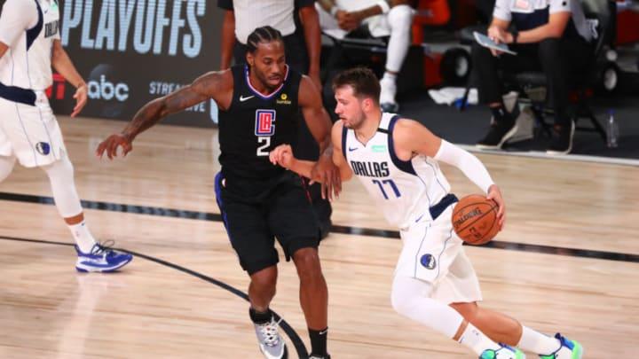 Dallas Mavericks Luka Doncic Kawhi Leonard Mandatory Credit: Kim Klement-USA TODAY Sports