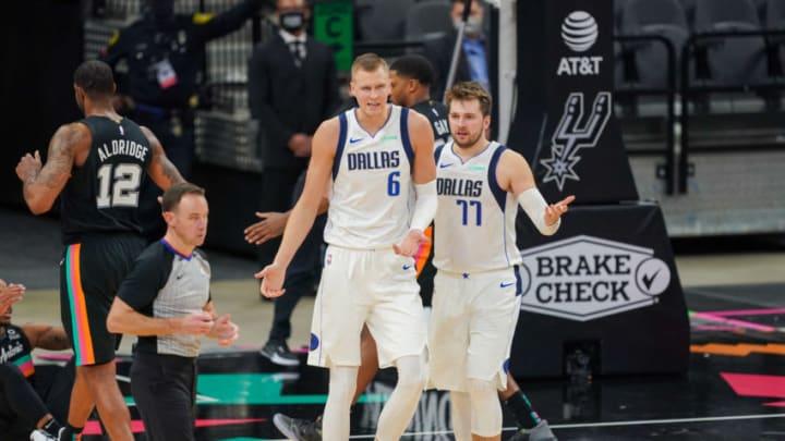 Dallas Mavericks Kristaps Porzingis Luka Doncic Mandatory Credit: Daniel Dunn-USA TODAY Sports