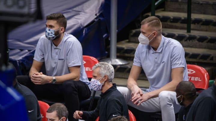 Dallas Mavericks Maxi Kleber Kristaps Porzingis Mandatory Credit: Jerome Miron-USA TODAY Sports