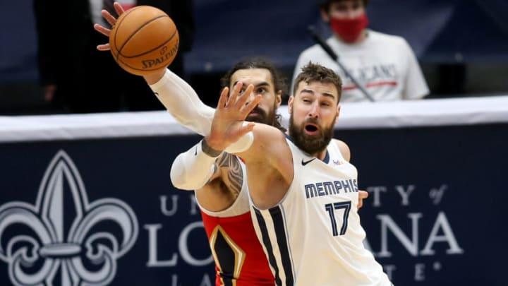 2021 NBA Draft Jonas Valanciunas Steven Adams Mandatory Credit: Chuck Cook-USA TODAY Sports