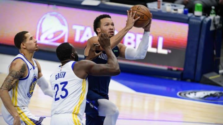 Dallas Mavericks Draymond Green Jalen Brunson Mandatory Credit: Jerome Miron-USA TODAY Sports