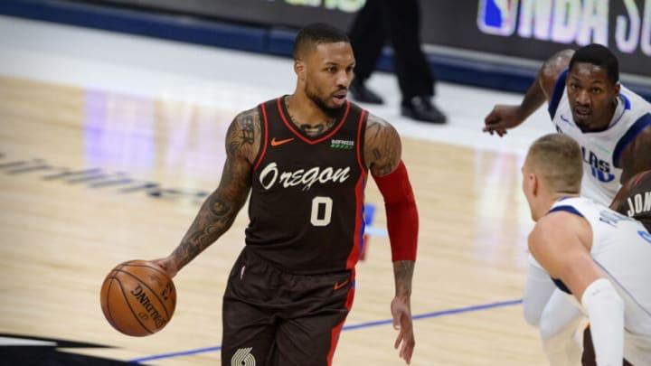 Dallas Mavericks Damian Lillard Mandatory Credit: Jerome Miron-USA TODAY Sports