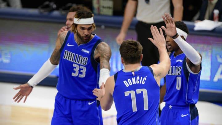 Dallas Mavericks Willie Cauley-Stein Luka Doncic Mandatory Credit: Jerome Miron-USA TODAY Sports