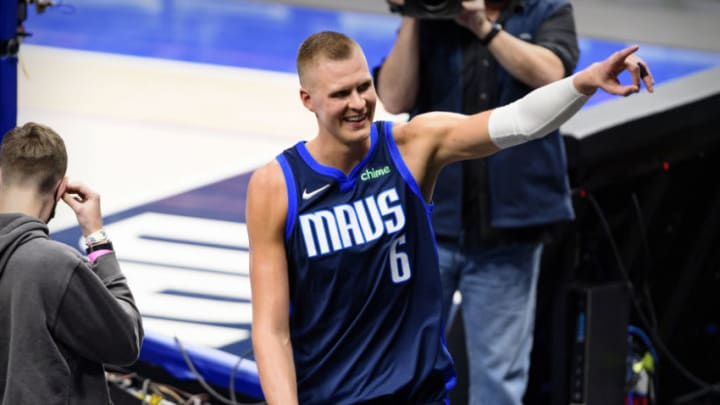 Dallas Mavericks Kristaps Porzingis Mandatory Credit: Jerome Miron-USA TODAY Sports