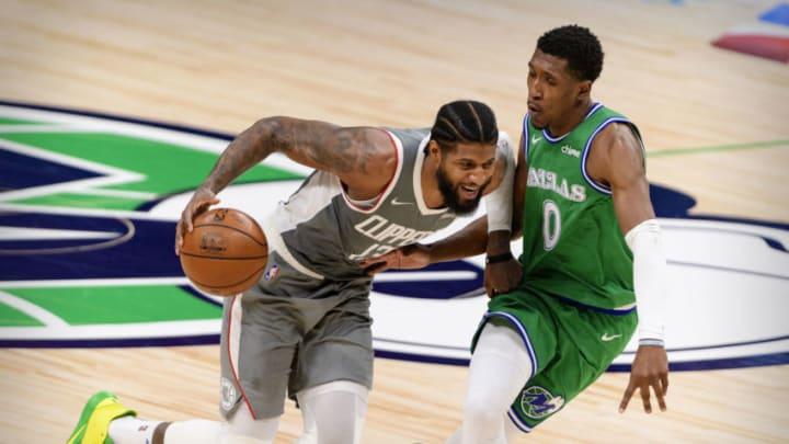 Dallas Mavericks Paul George Josh Richardson Mandatory Credit: Jerome Miron-USA TODAY Sports