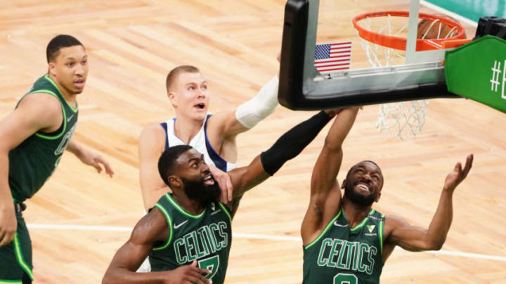 Dallas Mavericks Kristaps Porzingis Kemba Walker Mandatory Credit: David Butler II-USA TODAY Sports