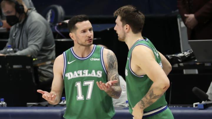 Dallas Mavericks JJ Redick Luka Doncic Mandatory Credit: Kevin Jairaj-USA TODAY Sports