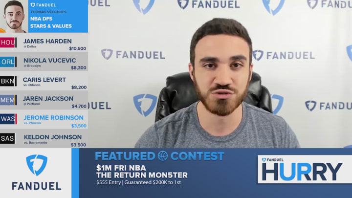 The FanDuel Hurry Up team takes a deeper look at evaluating Jerome Robinson's fantasy basketball value for the return of the 2019-20 NBA regular season, as well as previewing his fantasy outlook for the remainder of the year ahead of the NBA Playoffs.