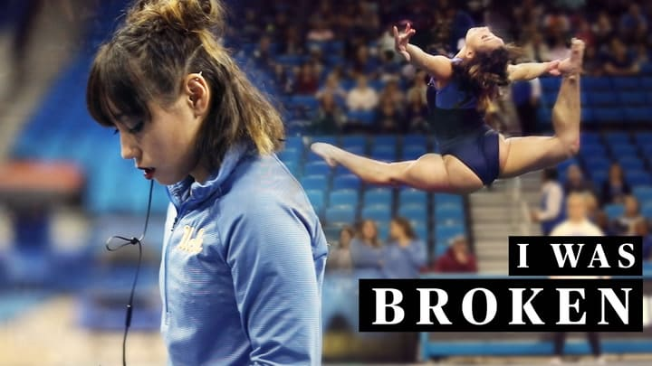 UCLA gymnast Katelyn Ohashi talks about why she decided to quit the elite gymnastics circuit in order to go to college. The 2018 NCAA gymnastics champ shares her struggles with injuries, self image issues, and happiness while competing full-time. Ohashi talks about the influence her coach, UCLA's Miss Val, has had on her rediscovering her love for the sport.