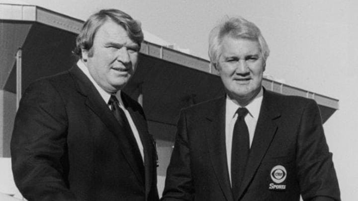 Madden and Summerall in 1982; Photo Courtesy CBS Sports
