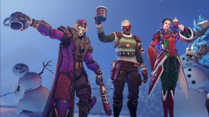 Leaked Christmas Skins Overwatch 2021 Overwatch Winter Wonderland Skins Leak Ahead Of Event