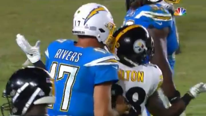 Philip Rivers Appears To Scold Steelers Defender Like One Of His Children