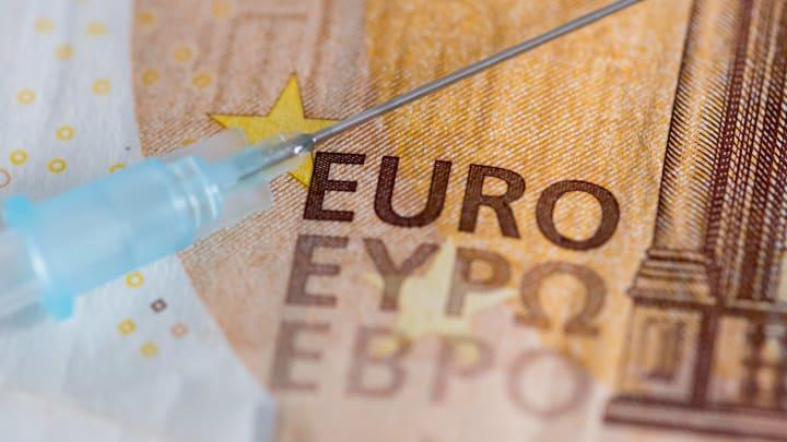 photo illustration: Euro banknotes