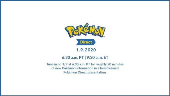 Nintendo announced a new Pokemon Direct for Jan. 9