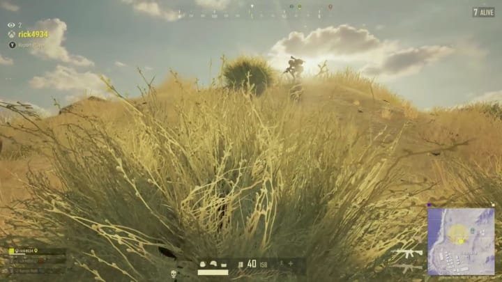 This PUBG player hid in a bush to find a 6-v-1 win