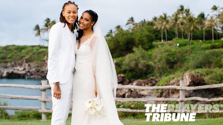 Augustus pictures seimone wedding WNBA Wives