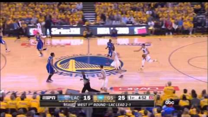 Stephen Curry's 5 3-pointers in the 1st quarter against Los Angeles Clippers