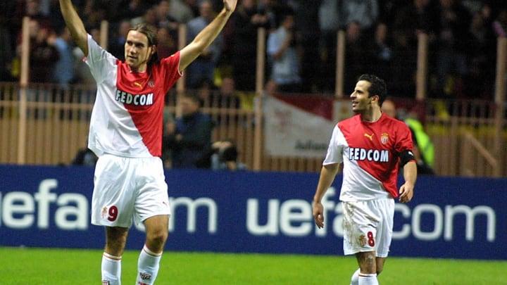 AS Monaco forward Dado Prso (L) celebrat