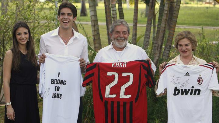 From L to R: Brazilian footballer Kaka's