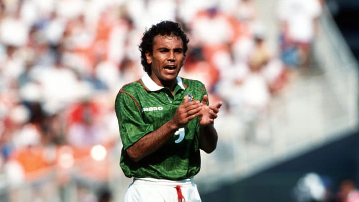 Fussball: WM 1994 in den USA, NOR - MEX 1:0