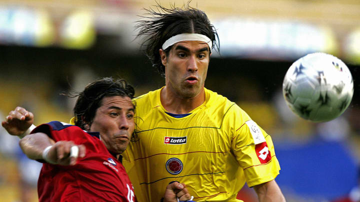 Juan Pablo Angel (L) of Colombia and Ric