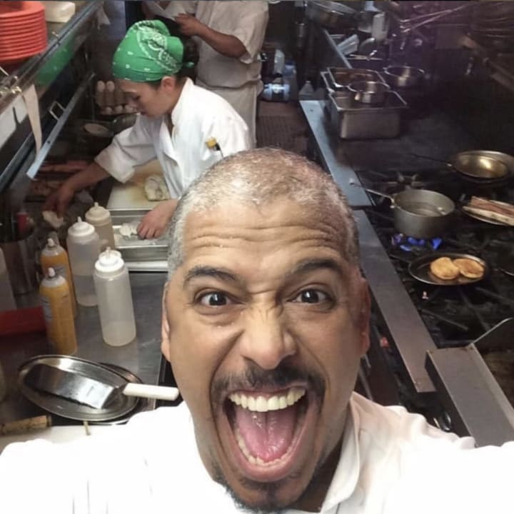Chef Miguel in the kitchen
