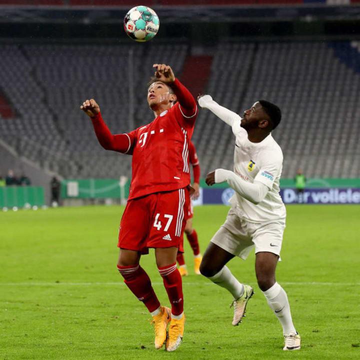 Armindo Sieb durfte im Pokal gegen Düren für die Bayern-Profis ran