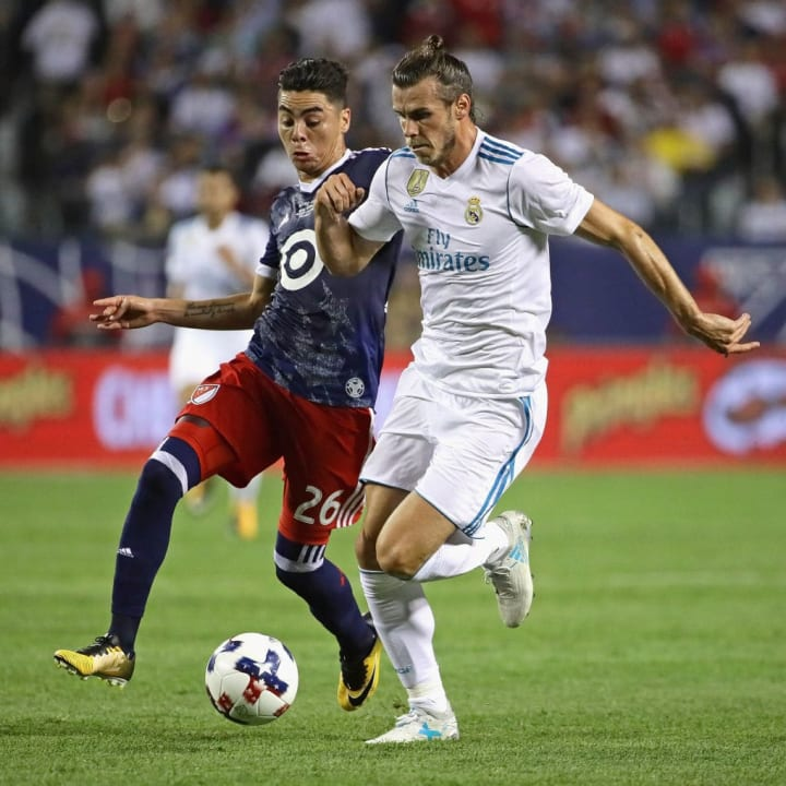Gareth Bale in action in the 2017 MLS All-Star Game.