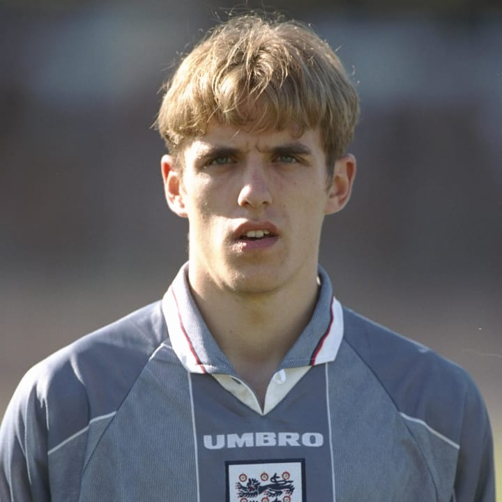 Phil Neville representing England