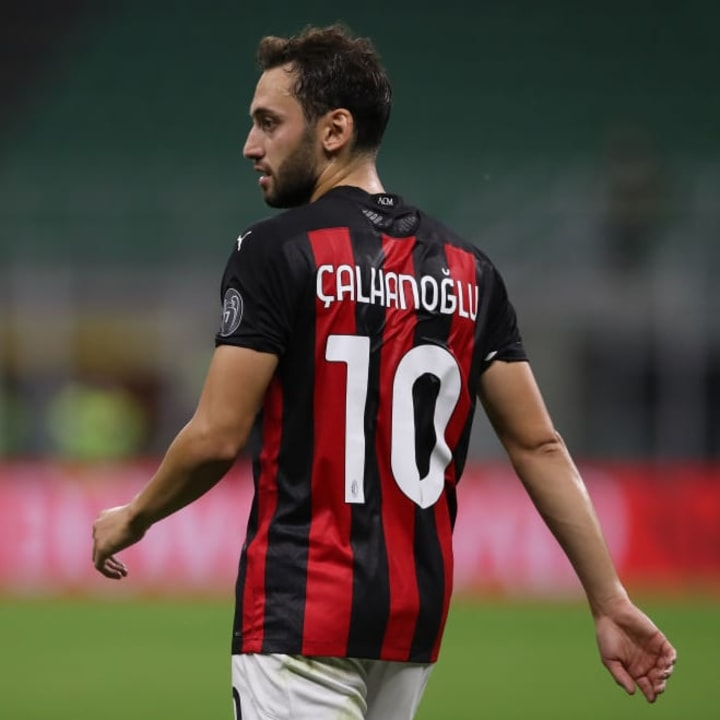 Calhanoglu has four goals & four assists so far this season