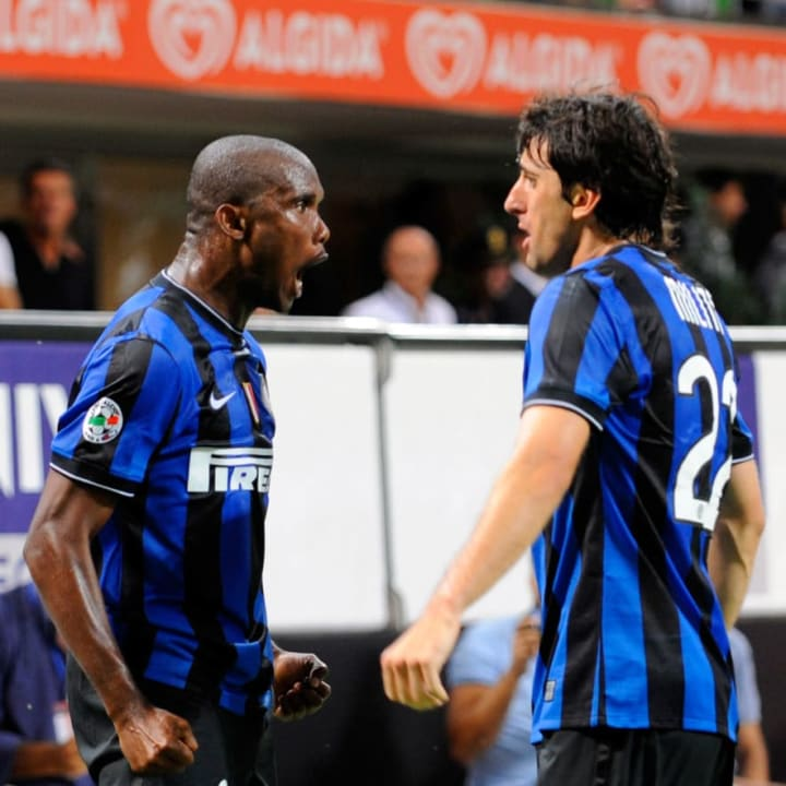 The streets won't forget Eto'o and Milito at Inter...